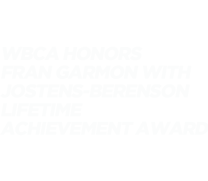WBCA honors Fran Garmon with Jostens-Berenson Lifetime Achievement Award